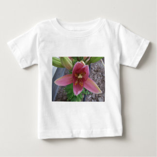 Pink Garden Lily Baby T-Shirt