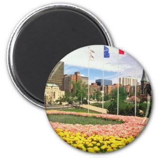 Pink Garden of the Provinces, Ottawa, Ontario flow Magnet