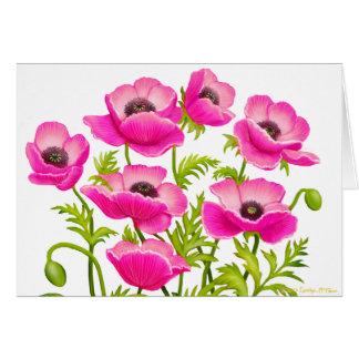 Pink Garden Poppies Card