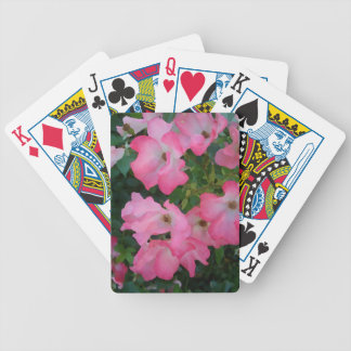 Pink Garden Rose Floral Pretty Girly Romantic Bicycle Playing Cards