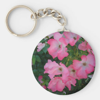 Pink Garden Rose Floral Pretty Girly Stuff Key Chain