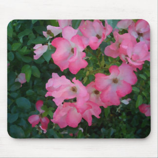 Pink Garden Rose Floral Pretty Girly Stuff Mousepads