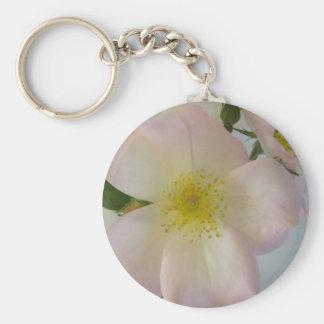 Pink Garden Rose Key Chain
