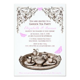 Pink Garden Tea Party Invitations