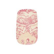Pink Garden Toile Minx Nail Wraps