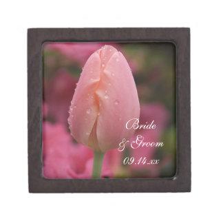 Pink Garden Tulip Wedding Jewelry Box