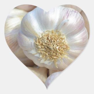 pink garlic heart sticker