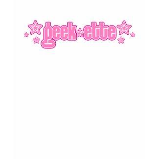 Pink Geekette shirt