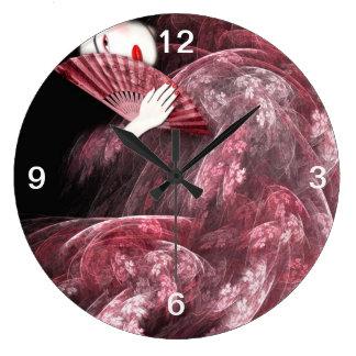 Pink Geisha Clock