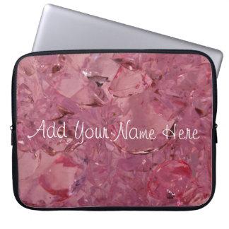Pink Gemz personalized laptop sleeve