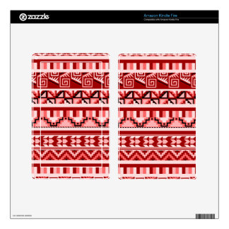 Pink Geometric Abstract Aztec Tribal Print Pattern Kindle Fire Decal