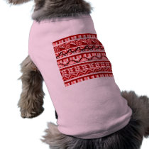 Pink Geometric Abstract Aztec Tribal Print Pattern T-Shirt