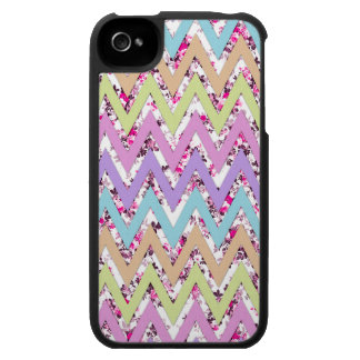 Pink Geometric Abstract Chevron Andes Pattern iPhone 4 Case