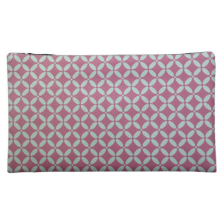 Pink Geometric Design Cosmetic Bag