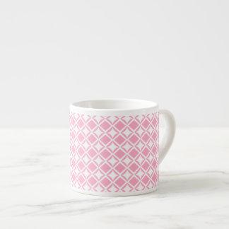 Pink Geometric Espresso Cup