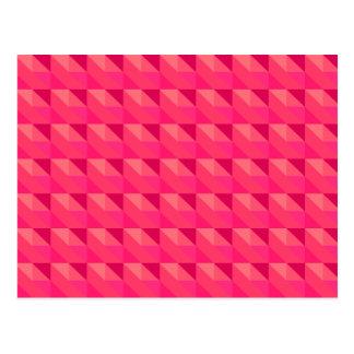Pink Geometric Girly Pattern Postcard