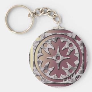 Pink Geometric Keychain
