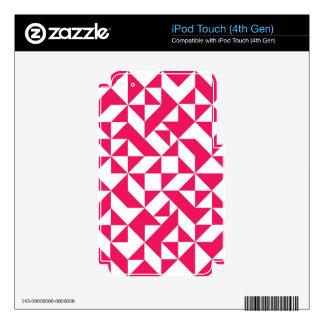 Pink Geometric Pattern iPod Touch 4G Skin