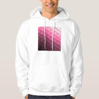 Pink Geometric Trangle Pattern Hooded Pullovers