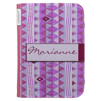 Pink Geometry Pattern Kindle Cover