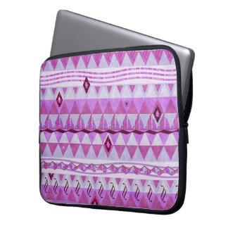 Pink Geometry Pattern Laptop Sleeve
