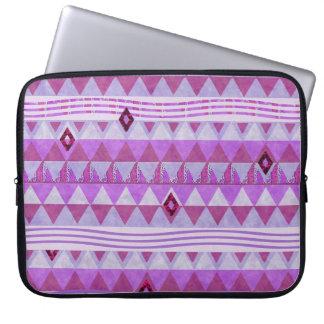 Pink Geometry Pattern Laptop Travel Sleeve Laptop Computer Sleeves