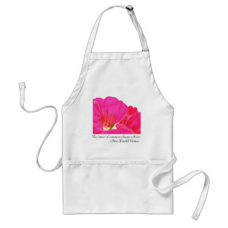 Pink Geranium Flower Quote Apron
