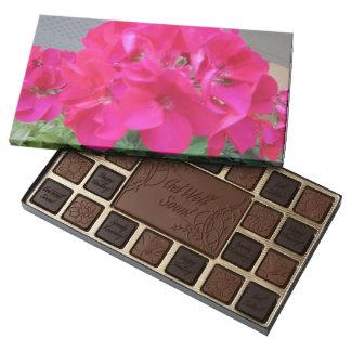 Pink Geranium Get Well Box of Chocolate