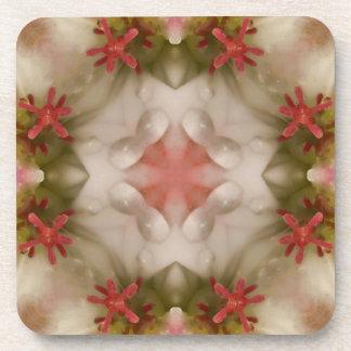 Pink Geranium Kaleidoscope Coaster