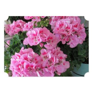 Pink Geranium Wedding Invitations