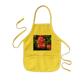 Pink Geraniums Kids' Apron