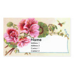 Pink Geraniums Victorian Trade Card Business Card