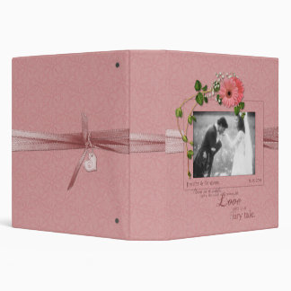 Pink Gerber Daisies Wedding Binder