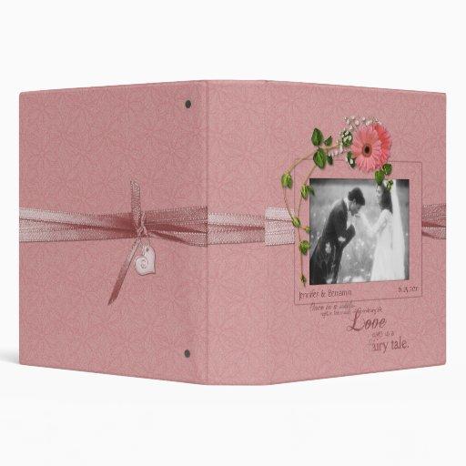 Pink Gerber Daisies Wedding Binder