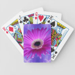 Pink Gerber Daisy Bicycle Poker Cards