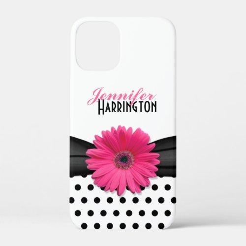 Pink Gerber Daisy Black Polka Dot iPhone 6 case Phone Case