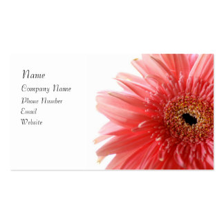 Pink Gerber Daisy Business Card