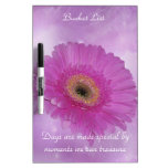 Pink Gerber Daisy Dry-Erase Whiteboards