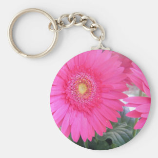 Pink Gerber Daisy Key Chain