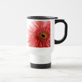 Pink Gerber Daisy  Travel Mug