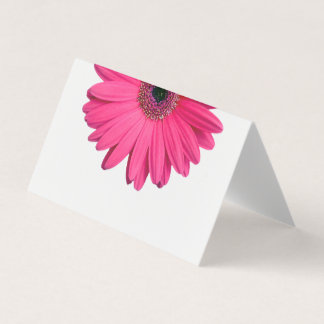Pink Gerber Gerbera Daisy Wedding Place Card