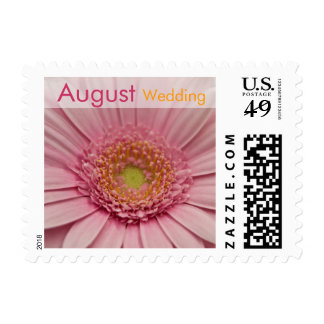 Pink Gerbera • August Wedding Stamp