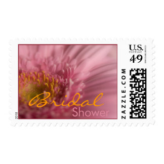 Pink Gerbera • Bridal Shower Stamp
