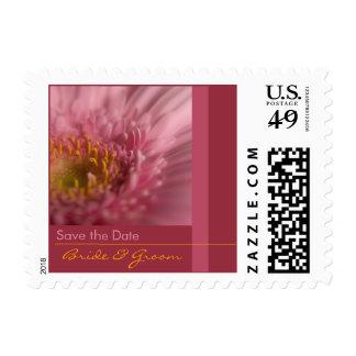 Pink Gerbera Bride & Groom Stamp