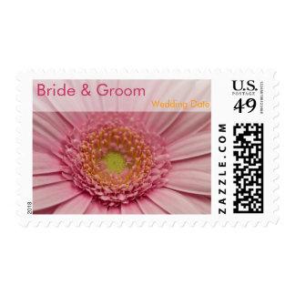 Pink Gerbera • Bride & Groom Stamp
