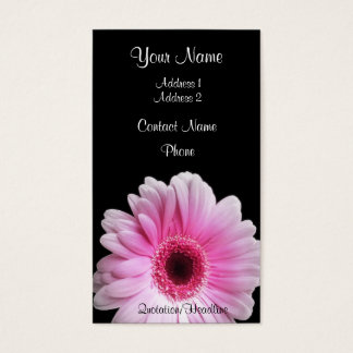 Pink Gerbera Business Card