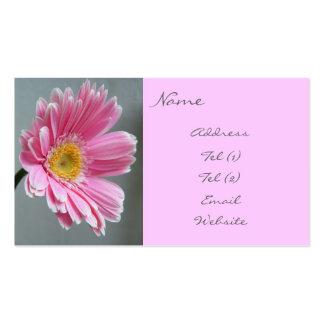 Pink Gerbera Business Card Template