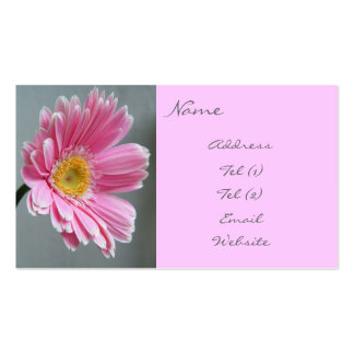 Pink Gerbera Business Card Template
