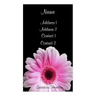 Pink Gerbera - Customized Business Card