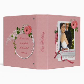 Pink Gerbera Daisies Wedding Binder